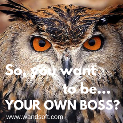 So, you want to be your own boss?